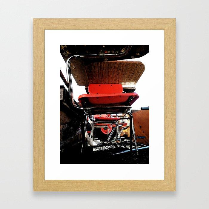 Chair Graveyard Framed Art Print