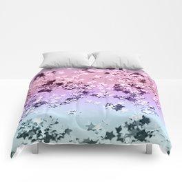 Unicorn Girls Glitter Stars #1 #shiny #pastel #decor #art #society6 Comforters