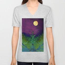 Moon Tree Unisex V-Neck