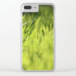 Green Dreams Clear iPhone Case