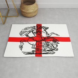George and the Dragon Patriotic Flag Rug