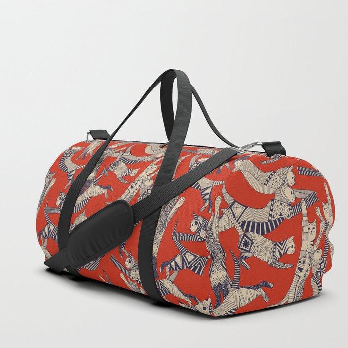 cat party retro Duffle Bag