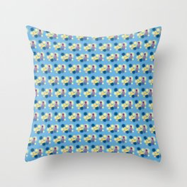 The Sleepy Sheep & Sunbathing Bear Pattern Throw Pillow