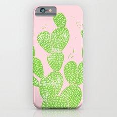 Linocut Cactus #1 Minty Pinky iPhone 6s Slim Case