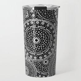 Dot Art Circles Grayscale Travel Mug
