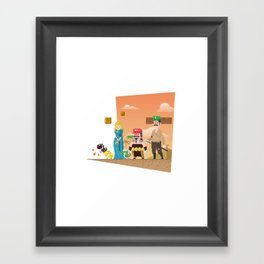 Super Mario GoT Framed Art Print
