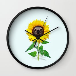 Slothflower Wall Clock