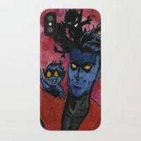 nightcrawler iPhone & iPod Cases featuring Kurt & Bamfs by Fiendish Thingy Art