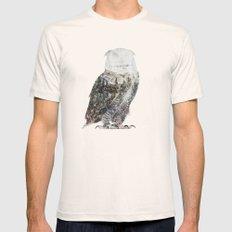 Arctic Owl Natural Mens Fitted Tee MEDIUM
