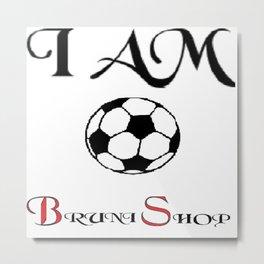 I am soccer Metal Print