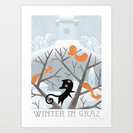 Winter in Graz Art Print