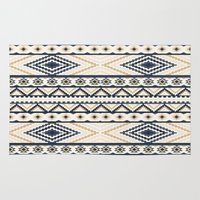 aztec Area & Throw Rugs featuring AZTEC by Oksana Smith