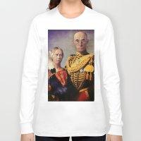gothic Long Sleeve T-shirts featuring European Gothic by Ganech joe