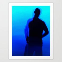 Blue Silhouette Art Print