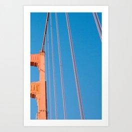 that sf bridge Art Print