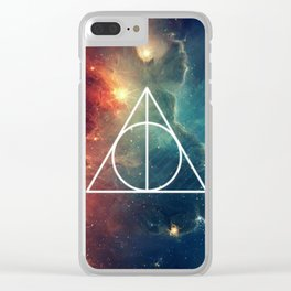Deathly Hallows Nebula HP Clear iPhone Case