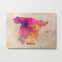 Spain map Metal Print