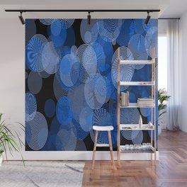 circle rings abstract optics blue Wall Mural