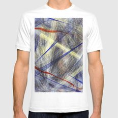 Ink Explosion  White MEDIUM Mens Fitted Tee