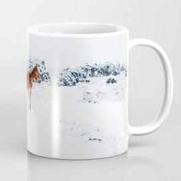 HORSE IN SNOW COVERED FOREST Coffee Mug