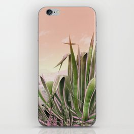 Agave in the Garden on Pastel Coral iPhone Skin