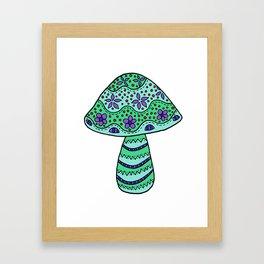A Single Mushroom (4) Framed Art Print