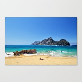 Sunny beach on Porto Santo (RR 276) Canvas Print