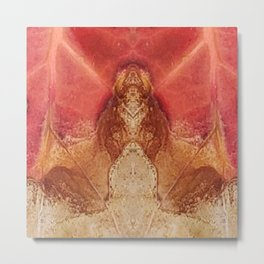 Mountain Man Amongst the Leaves Metal Print