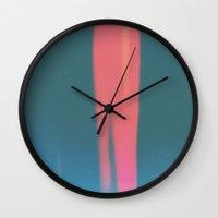 stripe Wall Clocks featuring Stripe by Julscela