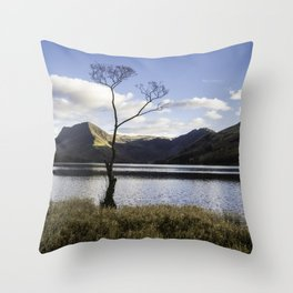 Lone Tree, Buttermere Throw Pillow