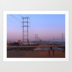 An Industrial View Art Print