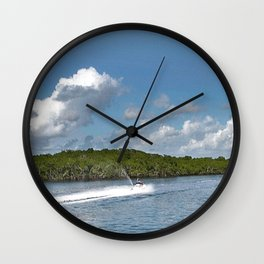Jet Skiing Wall Clock