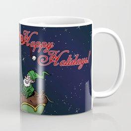 Santa on bike Coffee Mug
