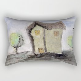 House with trees Rectangular Pillow