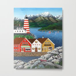 Puffin Point Metal Print