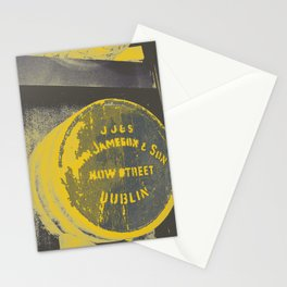 Jameson barrel art print Stationery Cards