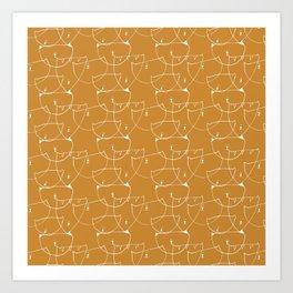 Kittycat orange Art Print