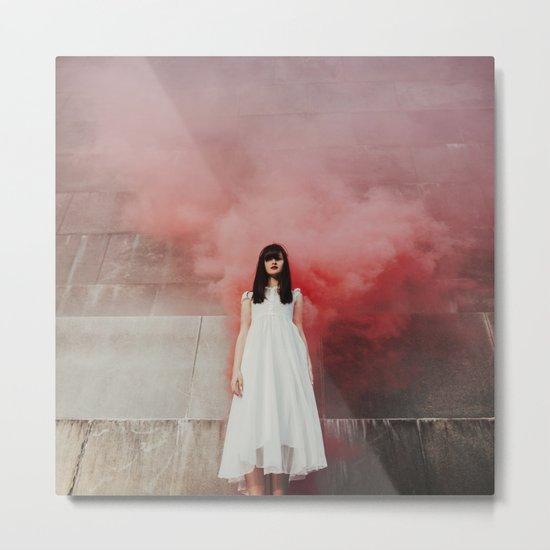 Red smoke Metal Print