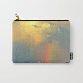Rainbow on the Coastal Town Carry-All Pouch