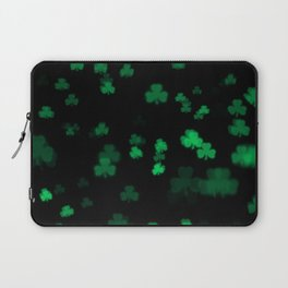 Green Bokeh Shamrocks Laptop Sleeve
