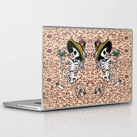 calavera Laptop & iPad Skins featuring DANCING CALAVERA  by Alberto Corradi