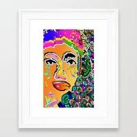 dj Framed Art Prints featuring DJ by sladja