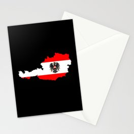 Austrian Flag and Map Stationery Cards
