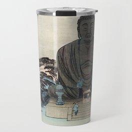 Ukiyo-e, Ando Hiroshige, KAMAKURA DAIBUTSU Travel Mug