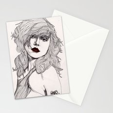 Debbie with Red Lips Stationery Cards
