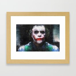 The Face Of Evil - A Joke From The Clown Prince Framed Art Print