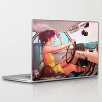 muscle Laptop & iPad Skins featuring The Getaway by Rudy Faber