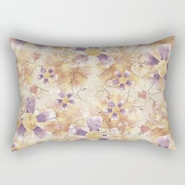 Aged Flower Clowns Rectangular Pillow