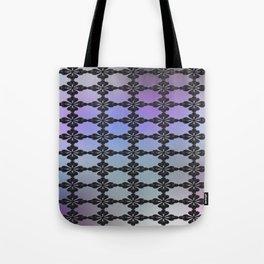 Dark Ornate Grid Pattern Tote Bag