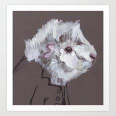 Mr Fluff Art Print